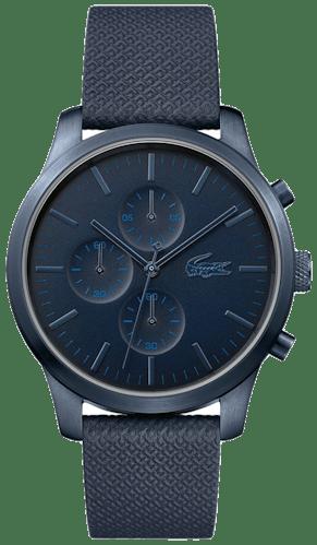 Cette montre LACOSTE se compose d'un Boîtier Rond de 42 mm et d'un bracelet en Cuir Bleu