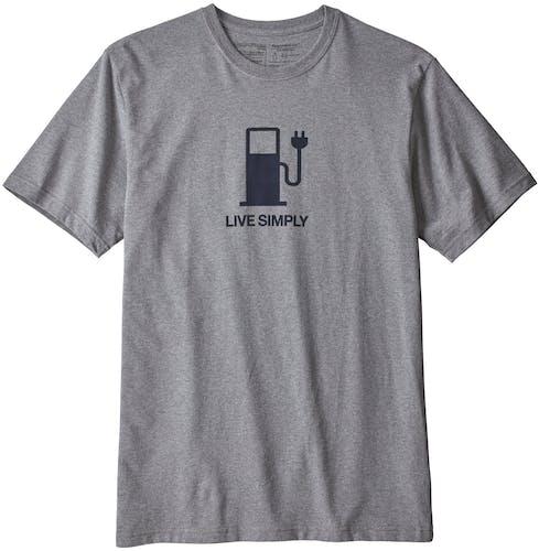 Patagonia Live Simply Power Responsibili - T-Shirt Trekking - Herren