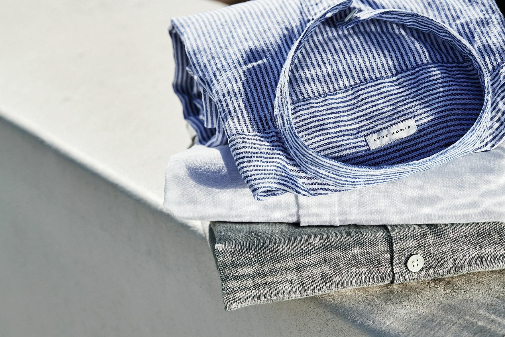 Leinenhemden, Simon Grey, Summer Styles 2018, Menswear, Lodenfrey, Munich