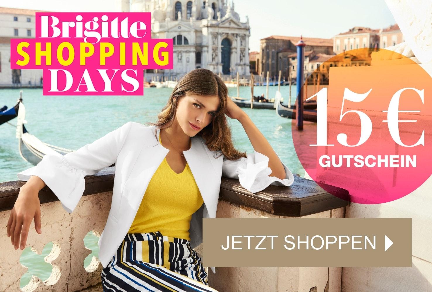 Kaufen Sie jetzt die aktuelle Ausgabe der BRIGITTE und sichern Sie sich einen 15 Euro Gutschein mit Ihrer BRIGITTE Shopping Card!
