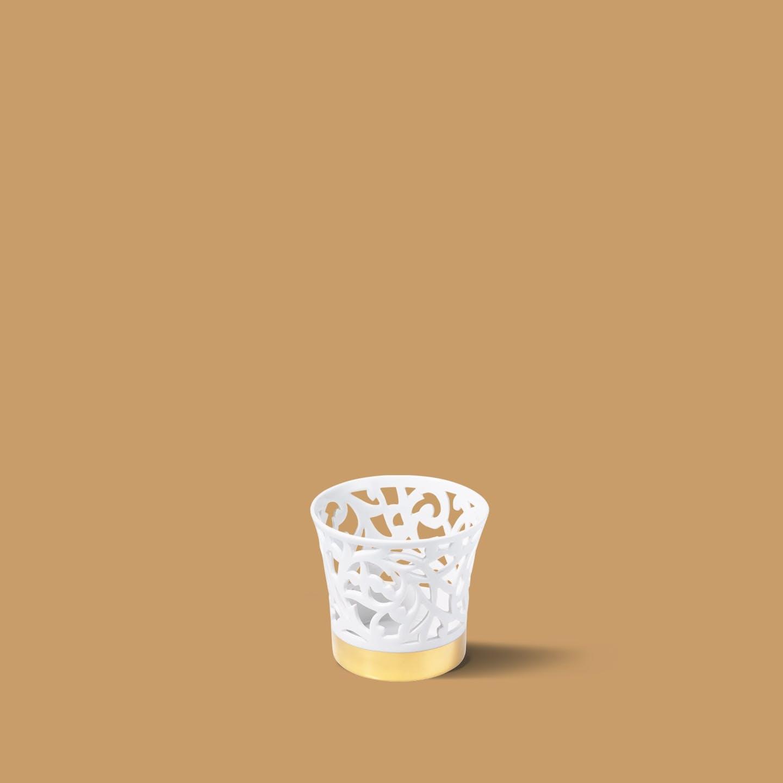 Teelicht halb durchbr., klein