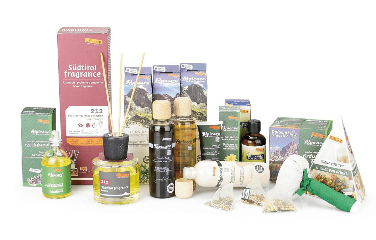 Prodotti naturali del benessere dall'Alto Adige
