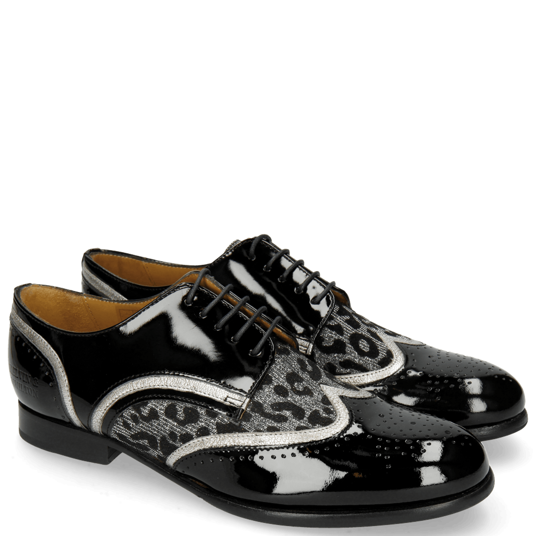 Sally 15 Patent Black Nappa Aztek Silver Leo