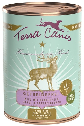 Terra Canis - Nassfutter - Getreidefrei Wild mit Kartoffeln, Apfel & Preiselbeeren