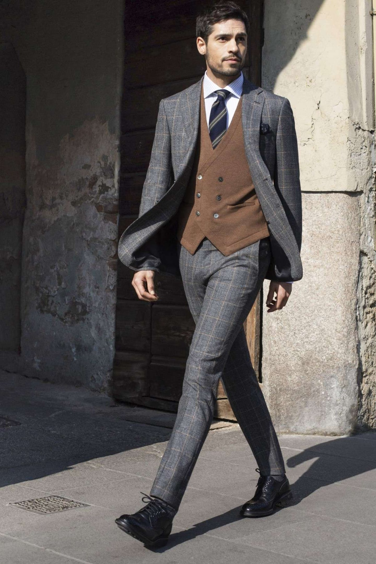 Prince of Wales fabric: How to wear glen plaid boggi milano glen plaid suit