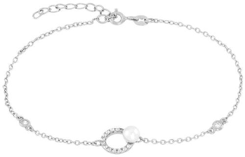 Ce Bracelet PERLE DE NUIT est en Argent 925/1000 et Perle Blanche