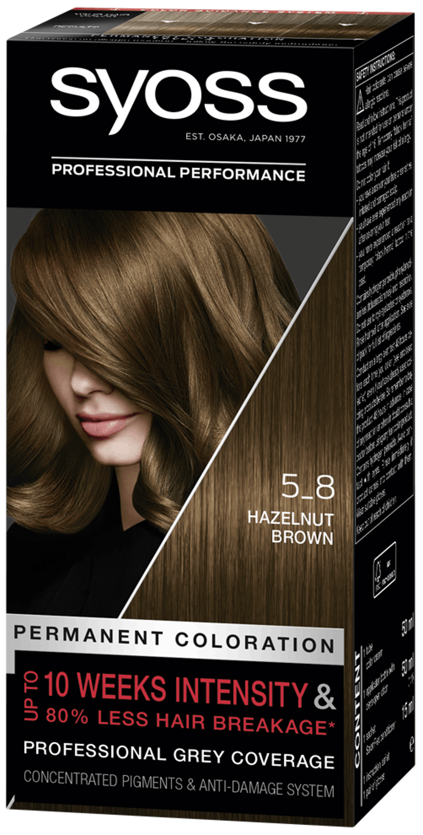 Syoss Permanent Coloration 5_8 Hazelnut Brown