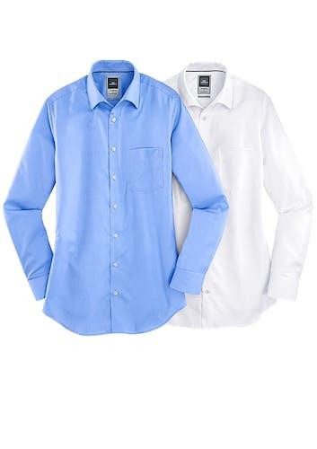 2 Hemden von Haupt in Hellblau und Weiß