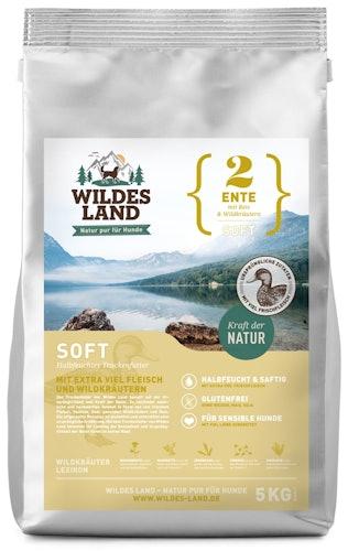 Wildes Land - Trockenfutter - Soft Ente mit Reis und Wildkräutern (glutenfrei)