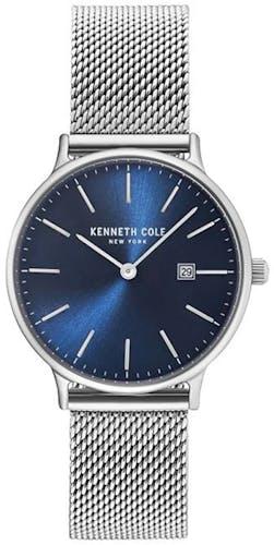Cette montre KENNETH COLE se compose d'un Boîtier Rond de 33 mm et d'un bracelet en Acier Gris