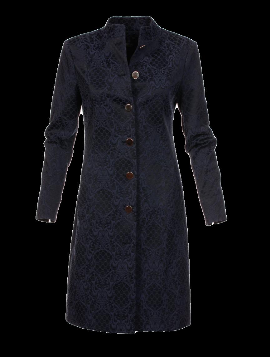 Jacquard-Gehrock im Uniform-Stil