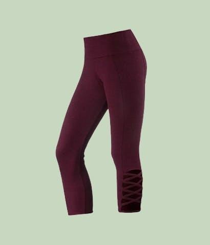Onzie Yoga Pants Burgundy