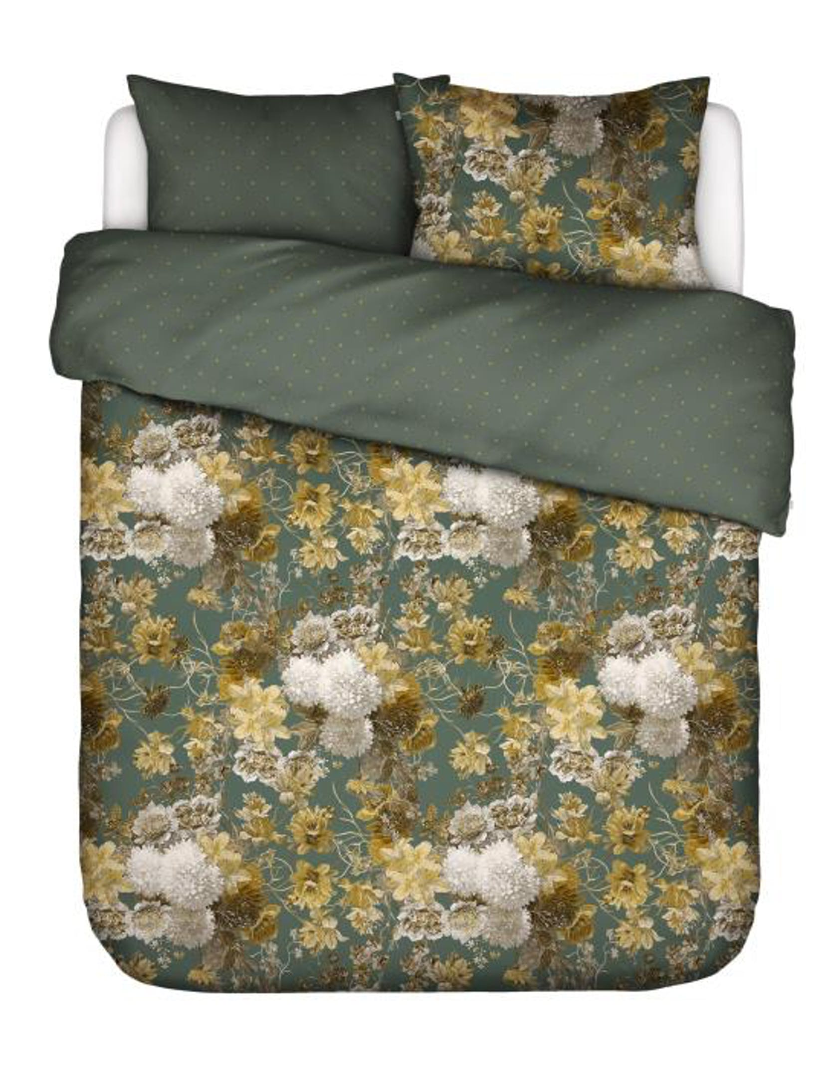 ESSENZA Maily Laurel Green Duvet cover 260 x 220