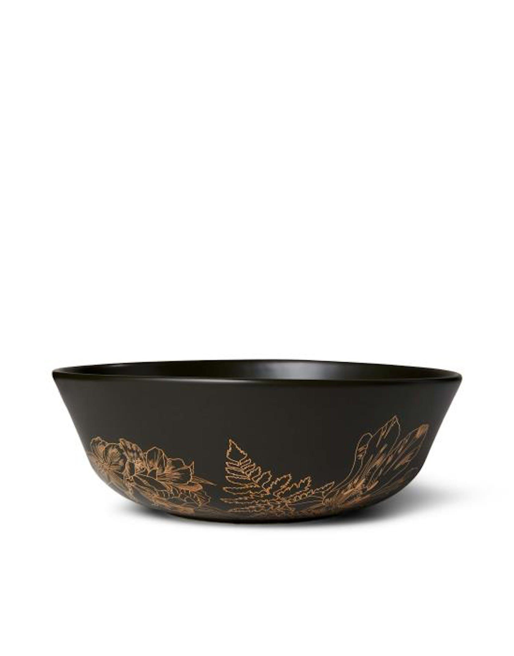 ESSENZA Masterpiece Dark Green Large bowl 23