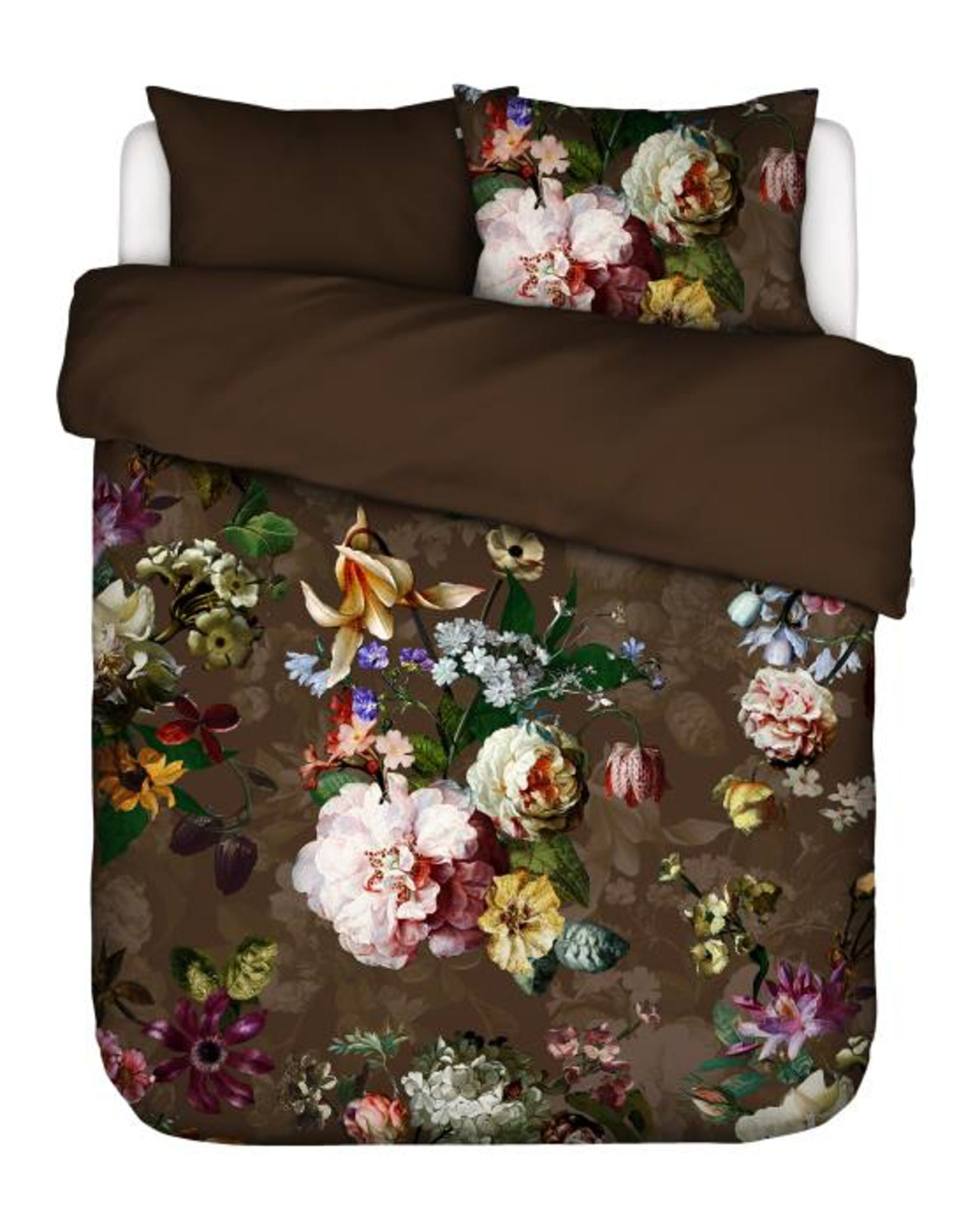 ESSENZA Fleur Chocolate Duvet cover 240 x 220