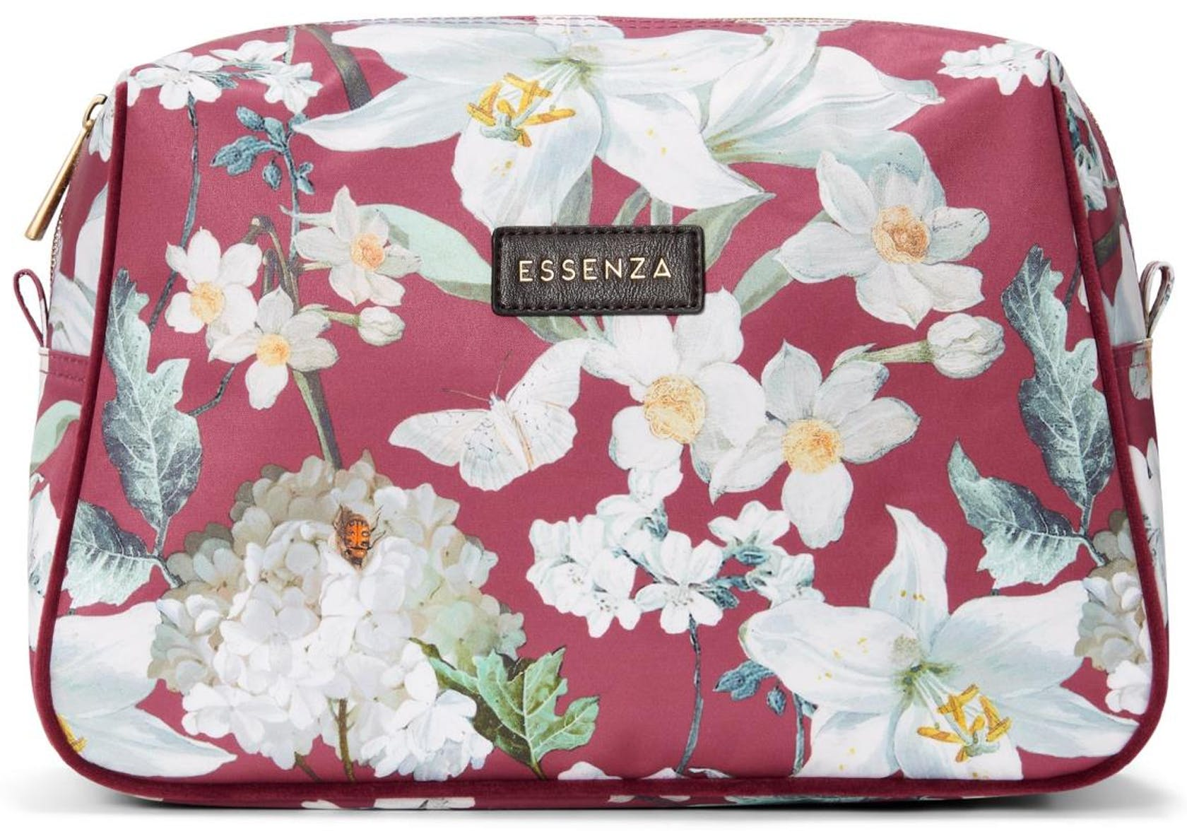 ESSENZA Carole Rosalee Plum Cosmetic Bag Large