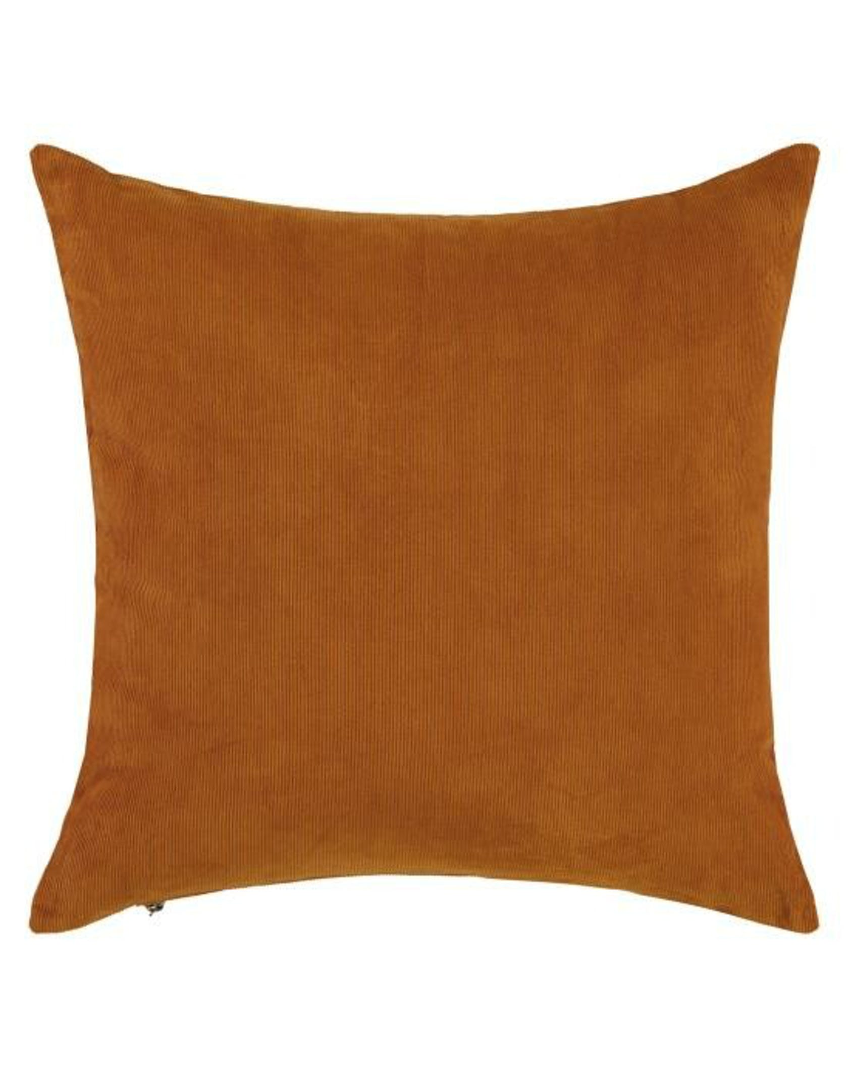 ESSENZA Riv Leather Brown Cushion square 45 x 45