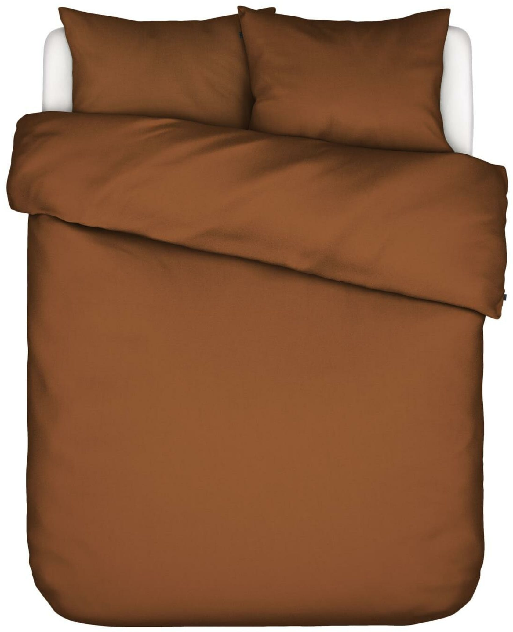 ESSENZA Minte Leather Brown Duvet cover 200 x 220