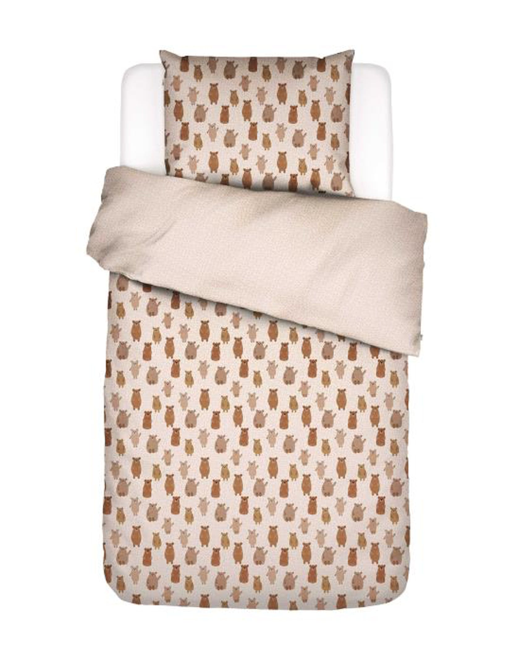 Covers & Co Beary much Brown Duvet cover 140 x 220