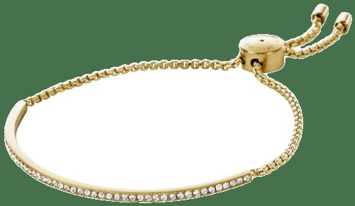 Bracelet MICHAEL KORS en Acier Doré et Pierre Synthétique Blanche