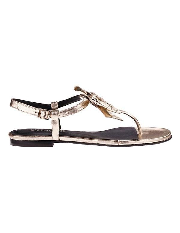 Flache Sandalette mit Schleife