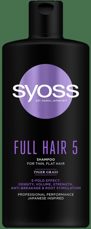 Syoss Full Hair 5 šampón pack shot