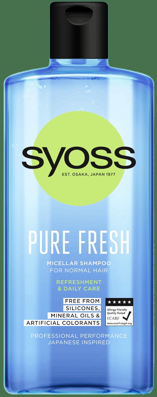 Syoss Pure Fresh šampón pack shot