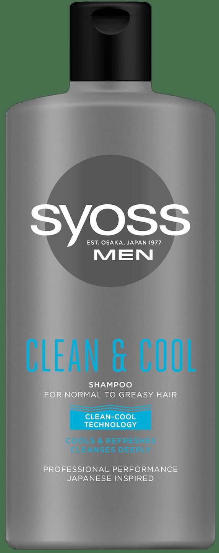 Syoss Men Clean & Cool šampón pack shot