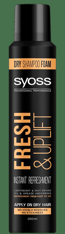 Syoss Fresh & Uplift penový suchý šampón pack shot