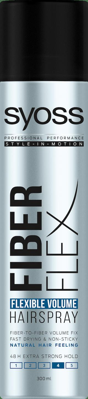 Syoss Fiber Flex Flexible Volume lak na vlasy pack shot