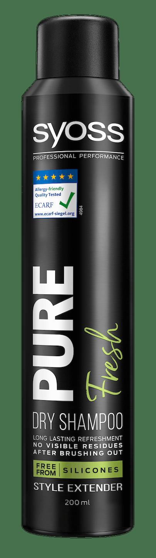 Syoss Pure Fresh suchý šampón pack shot