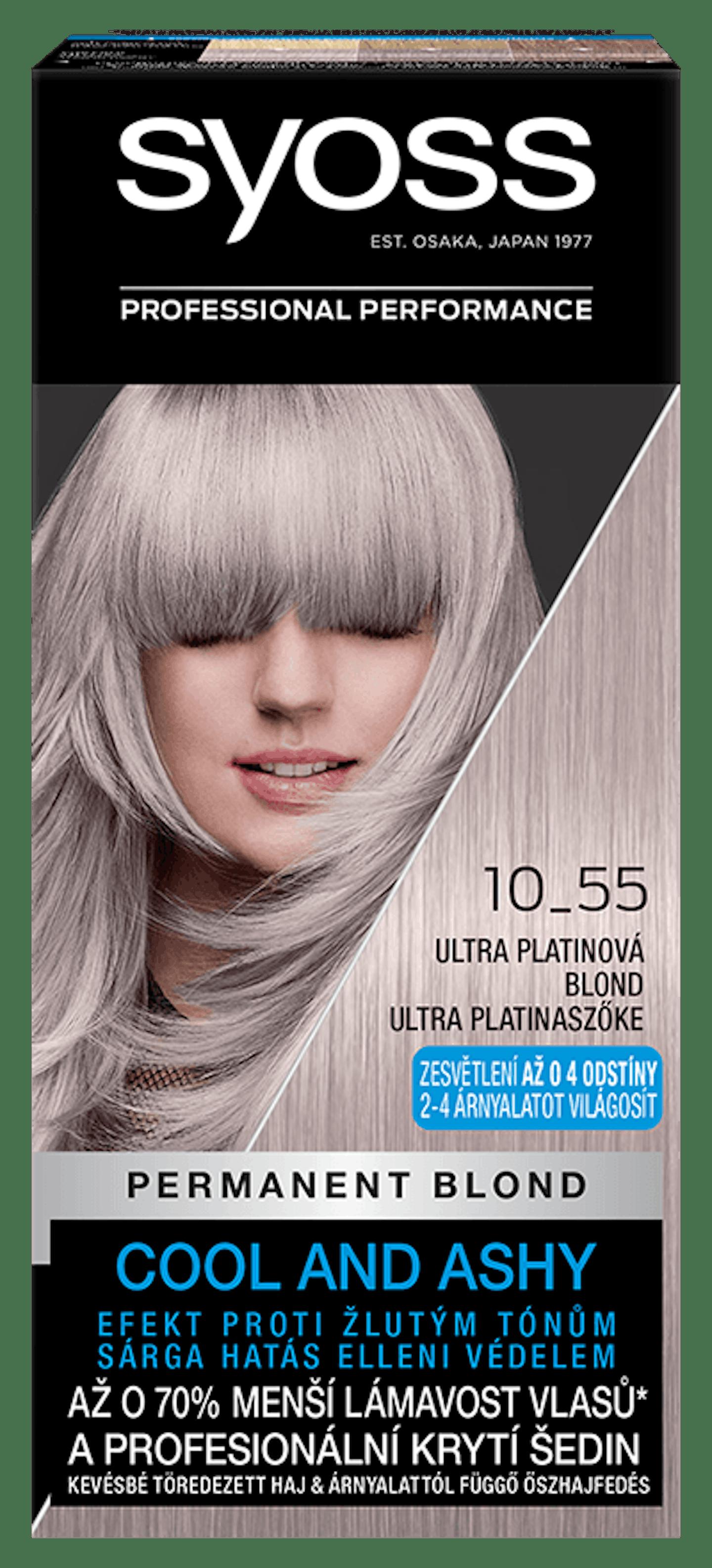 Permanentní barva Ultra platinová blond 10_55