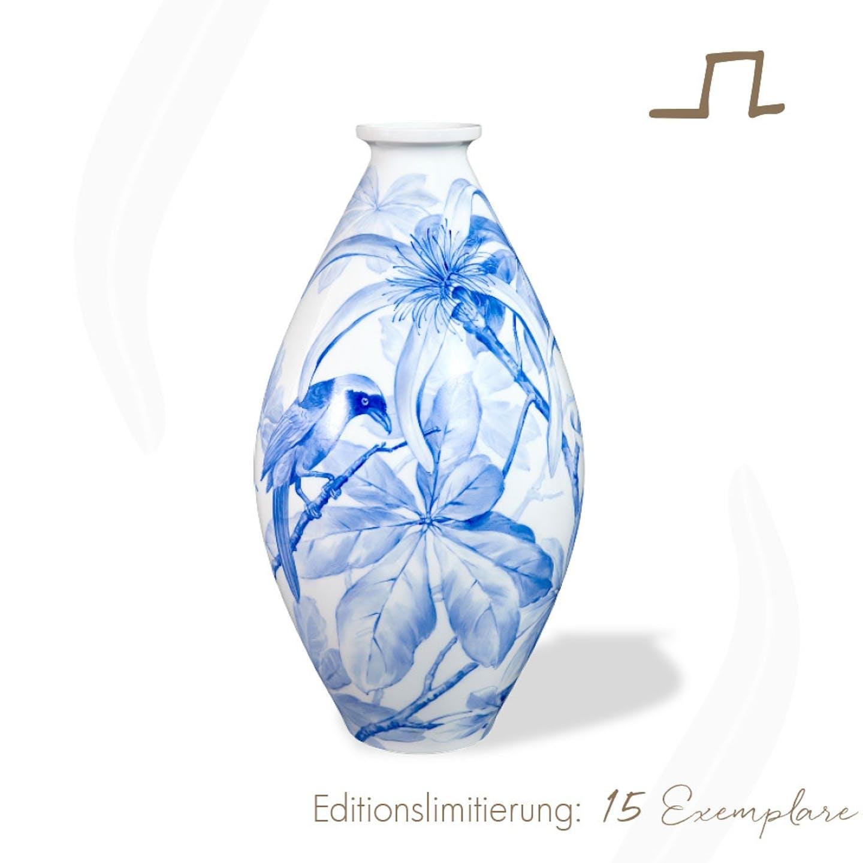 Bodenvase KRUKENFORM im Blauen Dekor, Atelier Edition