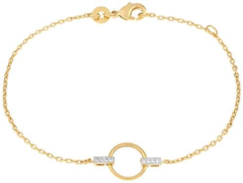 Bracelet Femme CLEOR Plaqué Or Oxyde Blanc