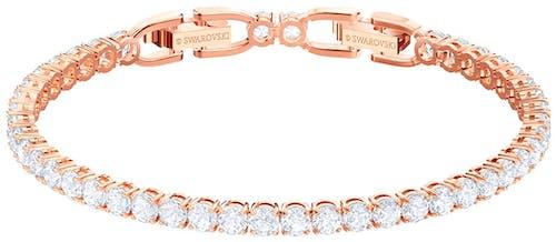 Ce Bracelet SWAROVSKI est en Métal Rose et Cristal Blanc