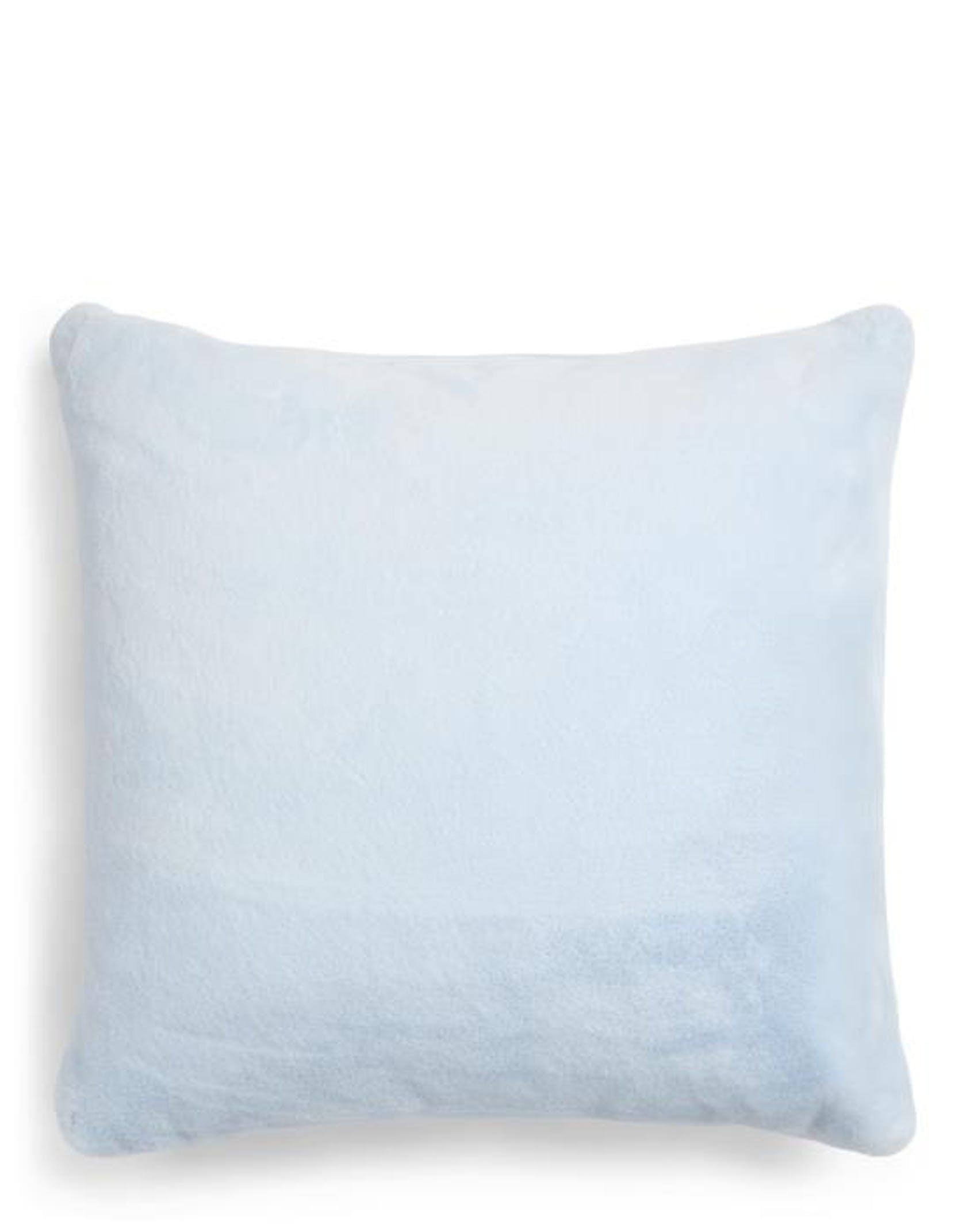 ESSENZA Furry  Cushion square Iceblue