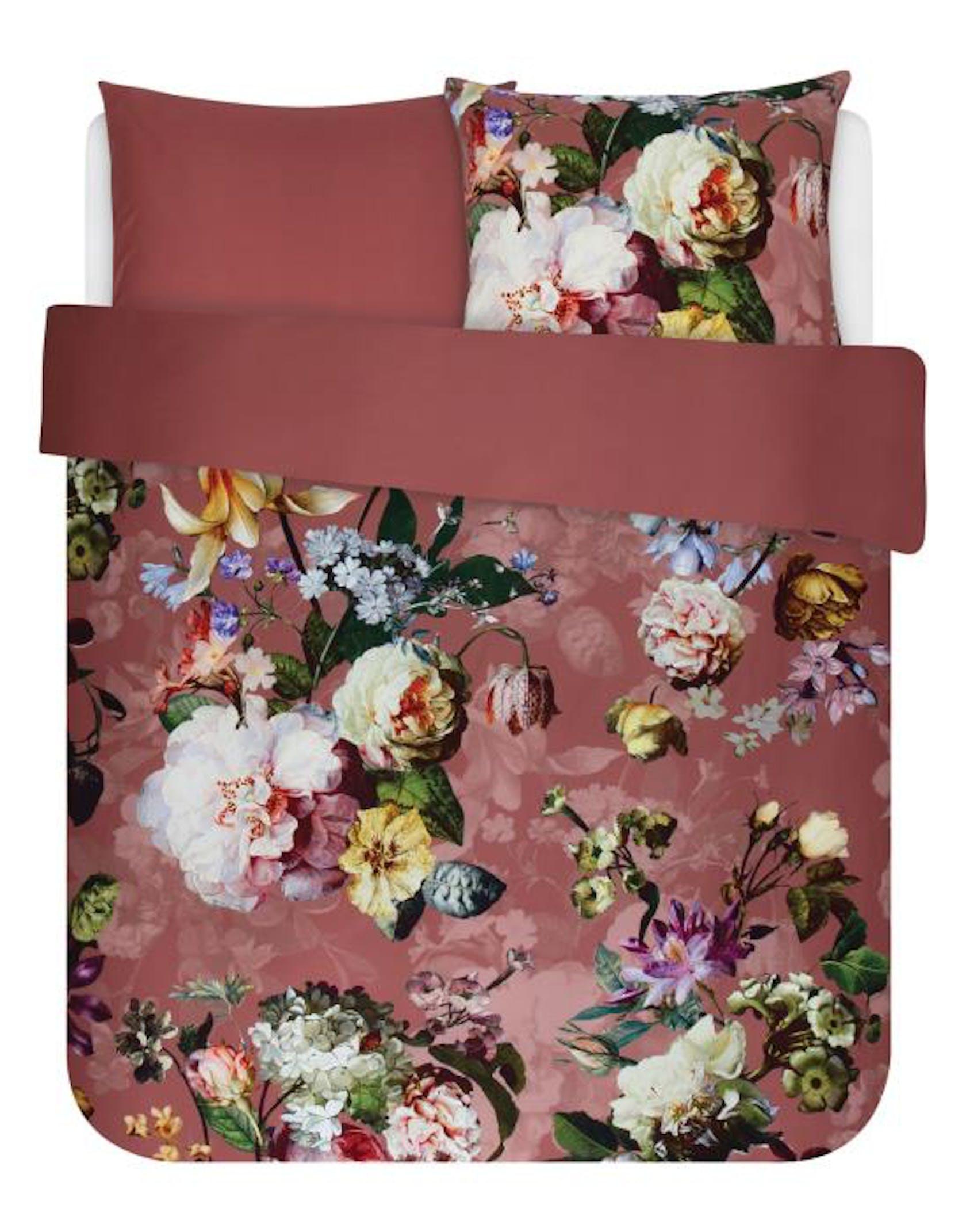 ESSENZA Fleur Dusty rose Dekbedovertrekset 200 x 220 cm