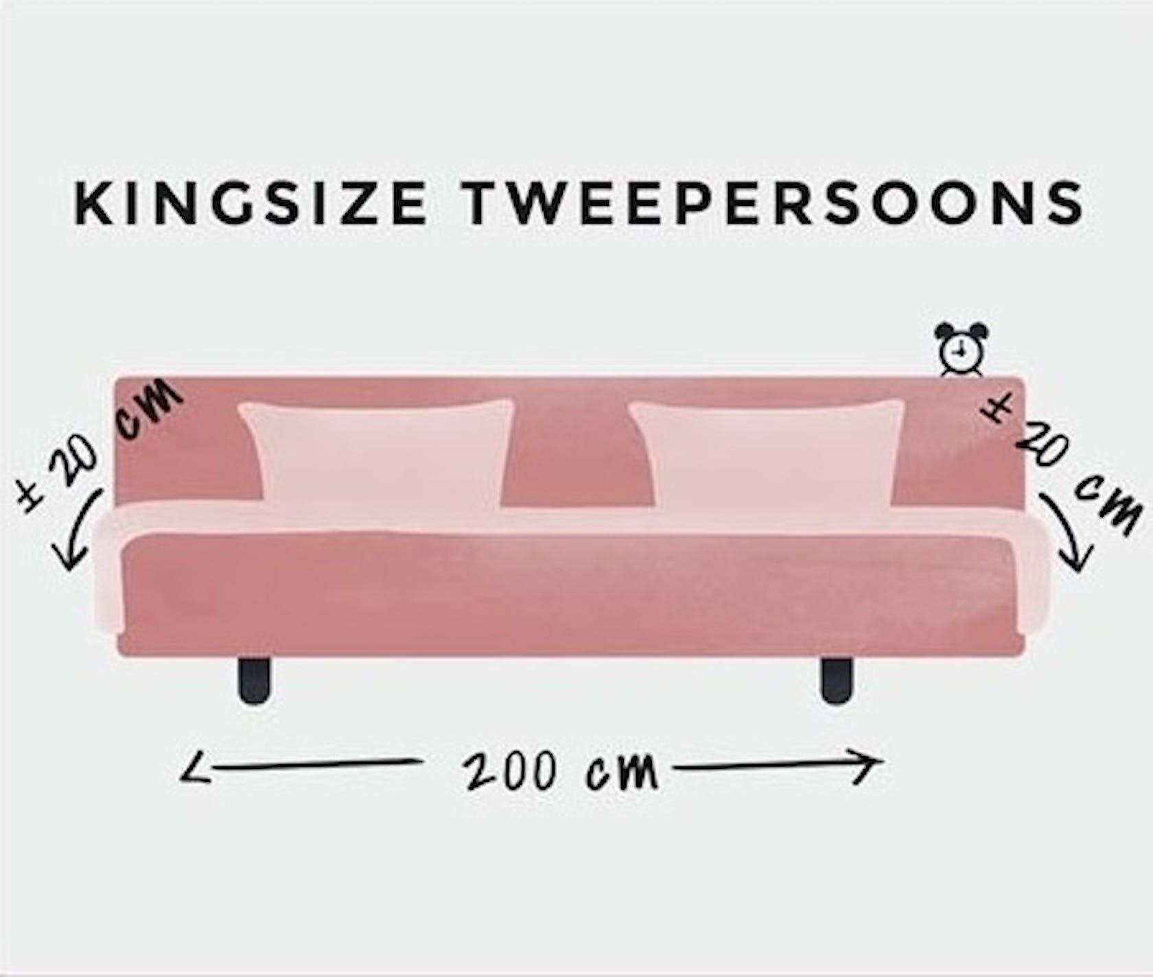 Kingsize tweepersoons