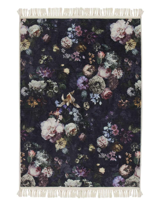 ESSENZA Fleur Nightblue Vloerkleed 120 x 180 cm