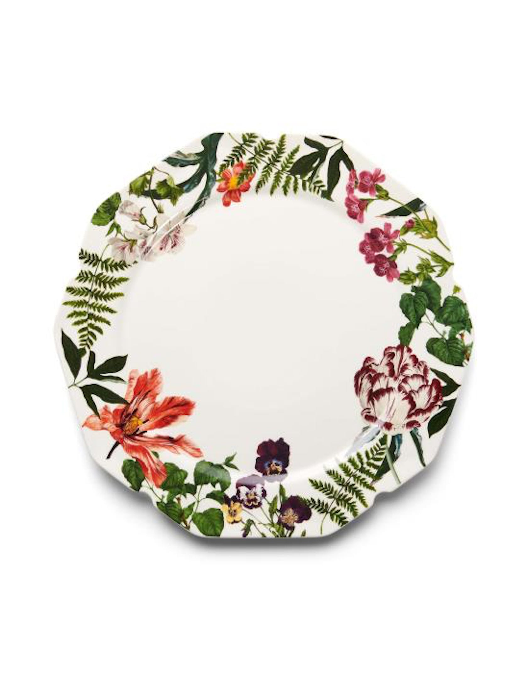 ESSENZA Gallery  Serving plate Off white