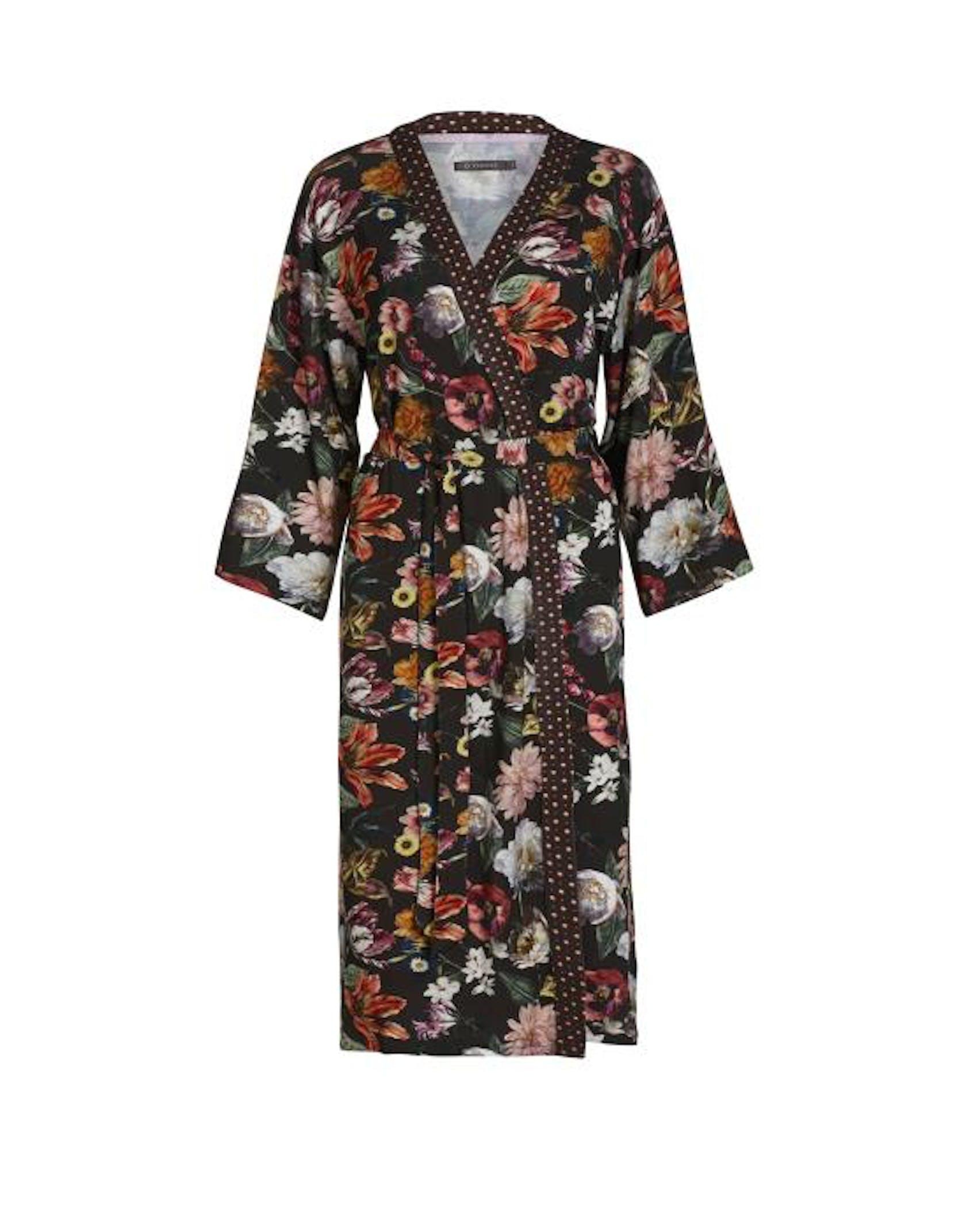 ESSENZA Sarai Filou Kimono Bloemen Espresso