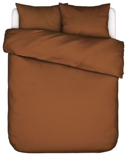 ESSENZA Minte Leather Brown Duvet cover