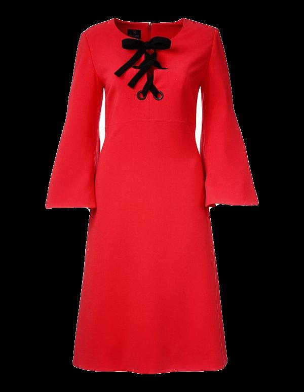 Kleid in leichter A-Linie