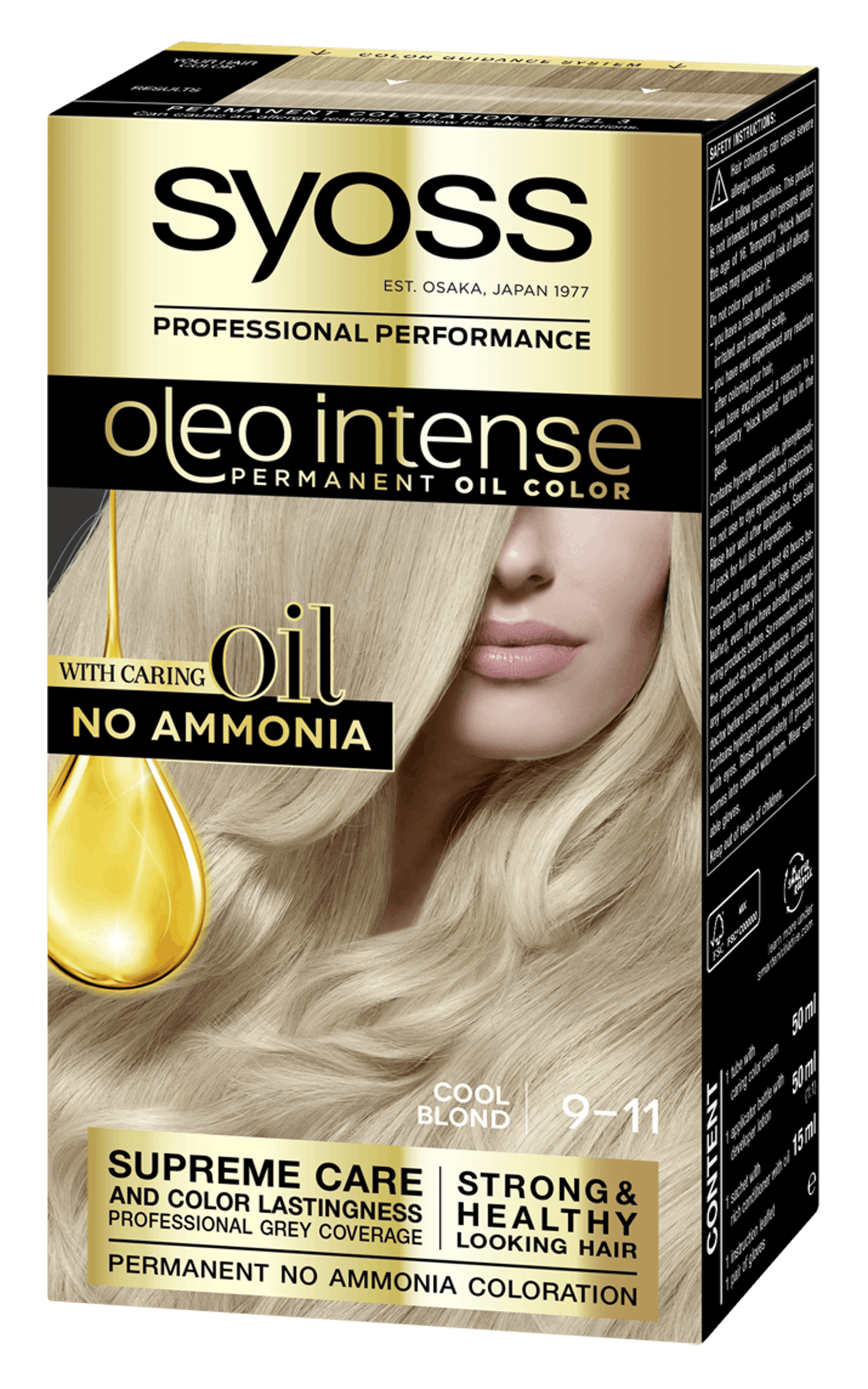 Syoss Oleo Intense Permanent Oil Color 9-11 Cool Blonde