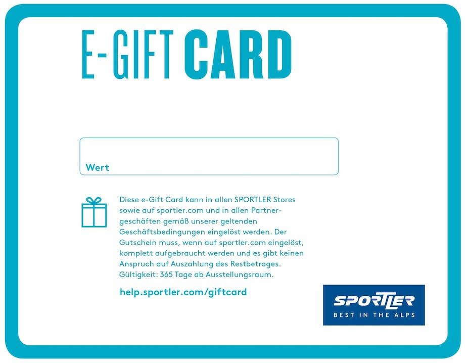 SPORTLER e-Gift Card - der Gutschein zum Selbstausdrucken!
