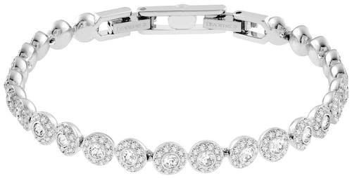Bracelet SWAROVSKI en Métal et Cristal Blanc