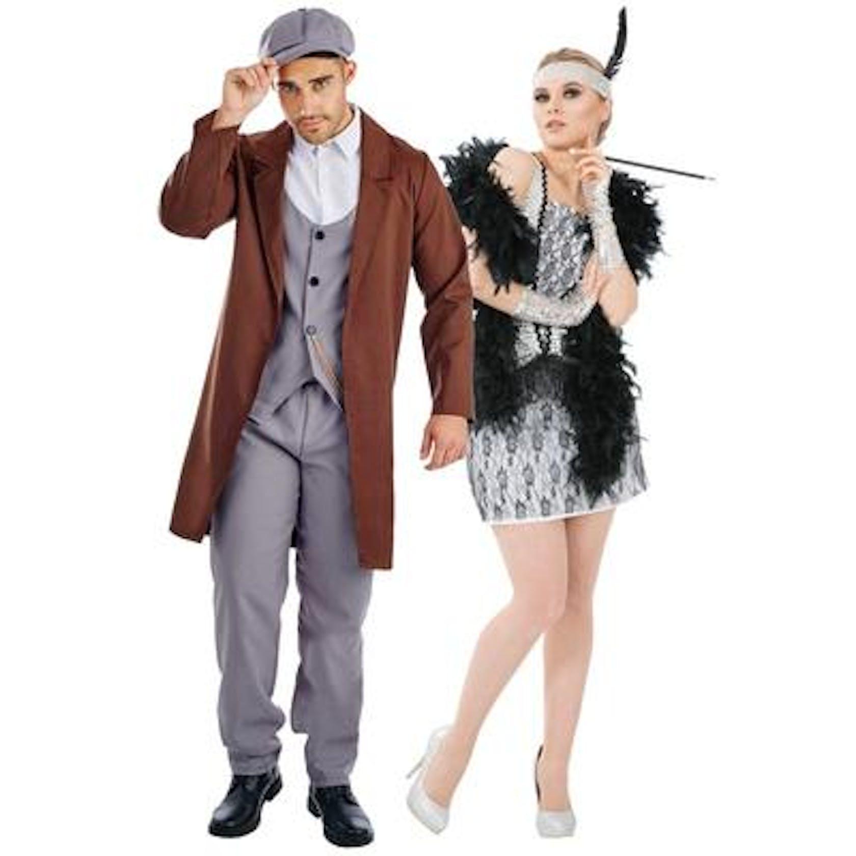 Peaky Blinder and Flapper Dress Girl
