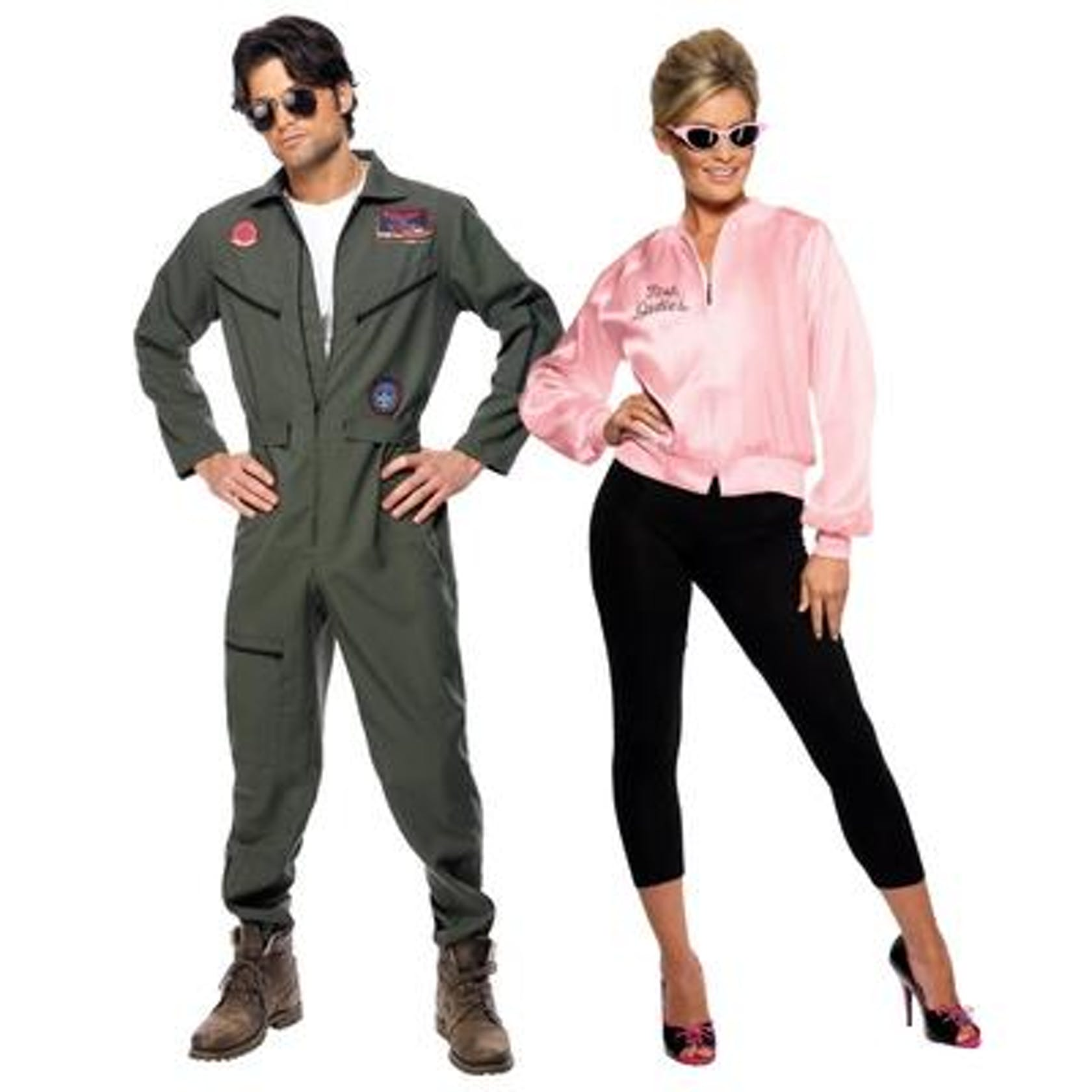 A couple dressed in movie themed costumes