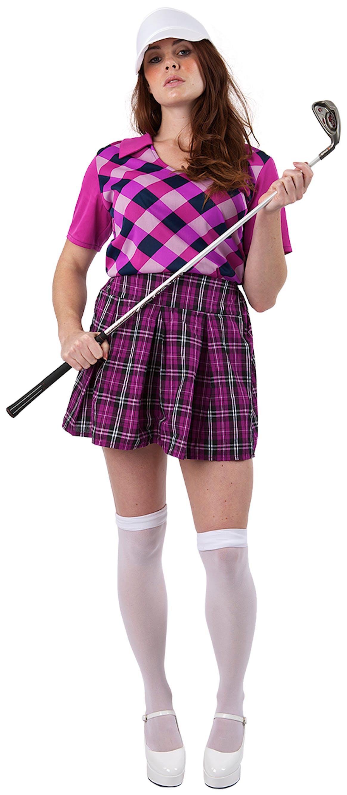 Womens Pub Golf Costume - Pink