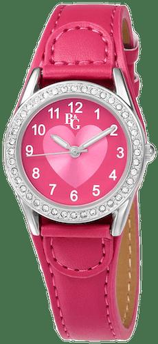 Cette montre B&G se compose d'un Boîtier Rond de 2 mm,27 et d'un bracelet en Résine Rose